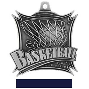 SILVER MEDAL/NAVY RIBBON