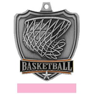 SILVER MEDAL/PINK RIBBON
