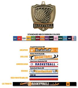 SILVER MEDAL/AMERICANA BASKETBALL RIBBON