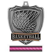 "Hasty Awards 2.5"" Basketball Shield Medal"