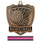 "Hasty Awards 2.5"" Basketball Shield Medal"