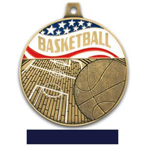GOLD MEDAL/NAVY RIBBON