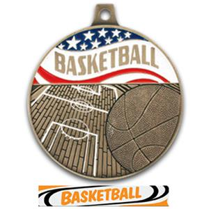 BRONZE MEDAL/DELUXE BASKETBALL RIBBON
