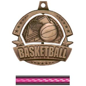 BRONZE MEDAL/VICTORY PINK NECK RIBBON