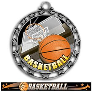SILVER MEDAL/ULTIMATE BASKETBALL RIBBON
