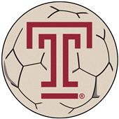 Fan Mats Temple University Soccer Ball Mat
