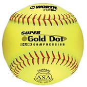 "Worth 12"" ASA Gold Dot ProTac Slowpitch Softballs"