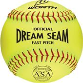 "Worth 11"" ASA Dream Seam PL Fastpitch Softballs EA"