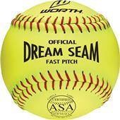 "Worth 11"" ASA Dream Seam PL Fastpitch Softballs"