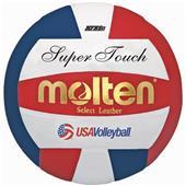 Molten Red/White/Blue Super Touch Volleyballs