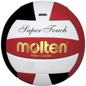 Molten Black/Red/White Super Touch volleyballs