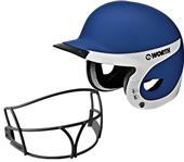 Worth Liberty Away Batter's Helmets w/ Faceguard