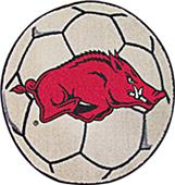 Fan Mats University of Arkansas Soccer Ball Mat