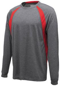 CARBON HEATHER/RED