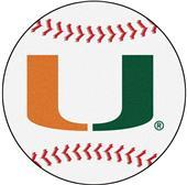Fan Mats University of Miami Baseball Mat