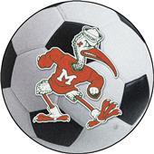 Fan Mats Miami Hurricanes Soccer Ball Mat