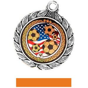 SILVER MEDAL/ORANGE RIBBON
