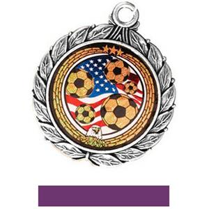 SILVER MEDAL/PURPLE RIBBON
