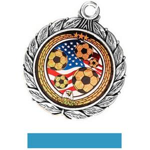 SILVER MEDAL/LT. BLUE RIBBON
