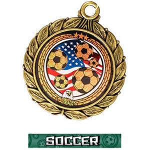 GOLD MEDAL/GRAPHX  SOCCER RIBBON
