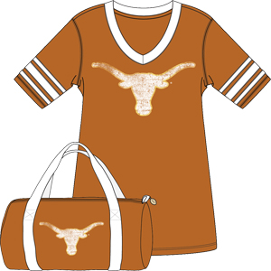 TEXAS ORANGE/WHITE