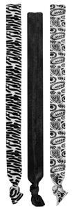 BW ZEBRA/SOLID BLACK/BW PAISLEY PRINT