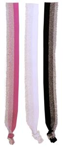 1 PINK/1 WHITE/1 BLACK-ALL W/SILVER GLITTER FRINGE