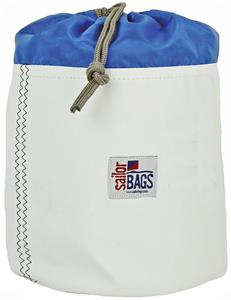 LARGE WHITE BAG/BLUE TOP