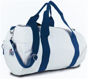 WHITE BAG/BLUE STRAP