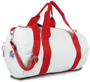 WHITE BAG/RED STRAP