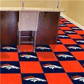 Fan Mats NFL Denver Broncos Team Carpet Tiles