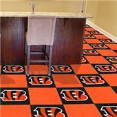 Fan Mats NFL Cincinnati Bengals Carpet Tiles