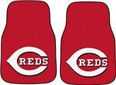 Fan Mats Cincinnati Reds Carpet Car Mats (set)