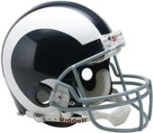 NFL Rams (65-72) On-Field Full Size Helmet (TB)