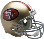 NFL 49ers (64-95) On-Field Full Size Helmet -TB