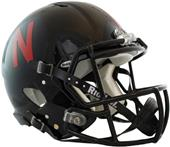 NCAA Nebraska Black Speed Authentic Helmet