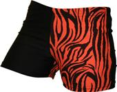 Gem Gear 4 Panel Orange Zebra Compression Shorts