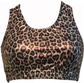 Gem Gear Brown Leopard Metallic Racer Back Bra