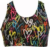 Gem Gear Neon Hearts Racer Back Bra