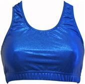 Gem Gear Royal Metallic Racer Back Sports Bra