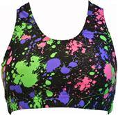 Gem Gear Splat Racer Back Sports Bra