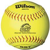 Wilson Pony League Fastpitch Softballs (1 DOZ)