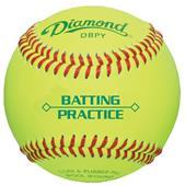 Diamond Optic Yellow Batting Practice Baseballs