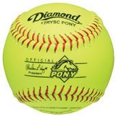 "Diamond 12RYSC Pony League 12"" Youth Softballs"
