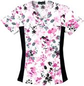 Cherokee Women's Flexibles Print V-Neck Scrub Tops