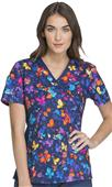 Cherokee Women's Flexibles Mock Wrap Scrub Top