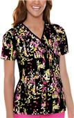Cherokee Women's Flexibles PR Mock Wrap Scrub Tops