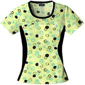 Cherokee Women's Flexibles PR Jewel Neck Scrub Top