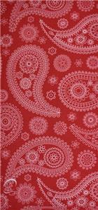 LIPSTICK RED PAISLEY