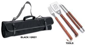 BLACK/GRAY TOTE W/ DIGITALLY PRINTED LOGO